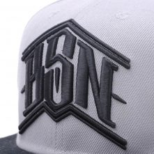 two color fitted snapback hats design logo