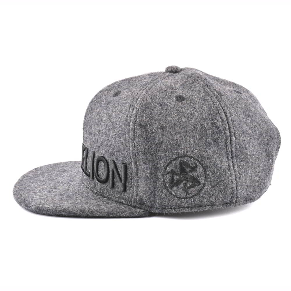 3d embroidery metal wool snapback hats