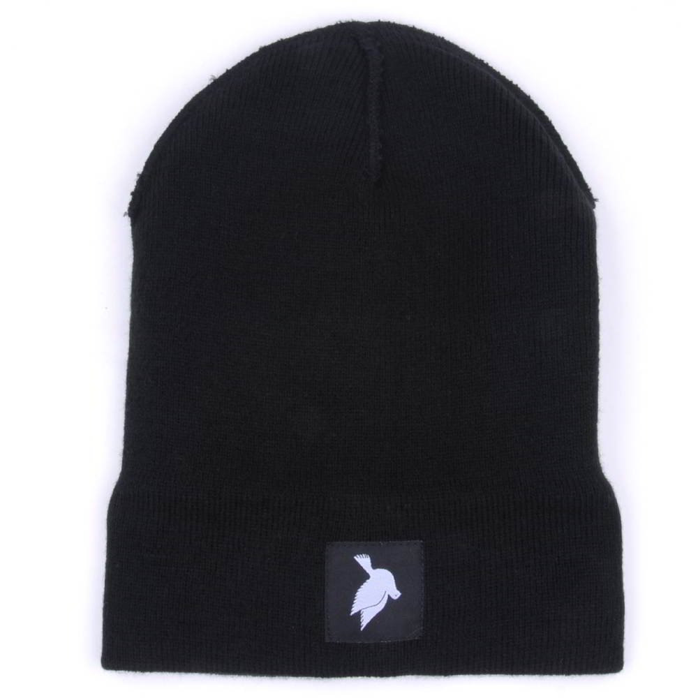 black knit hats cuffed winter beanies