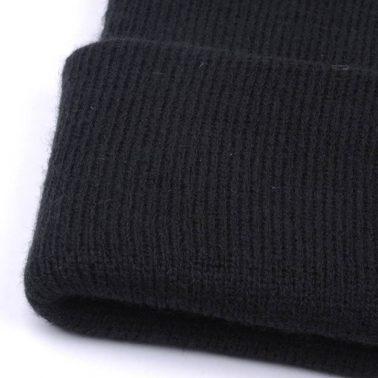 black knit hats cuffed winter beanies