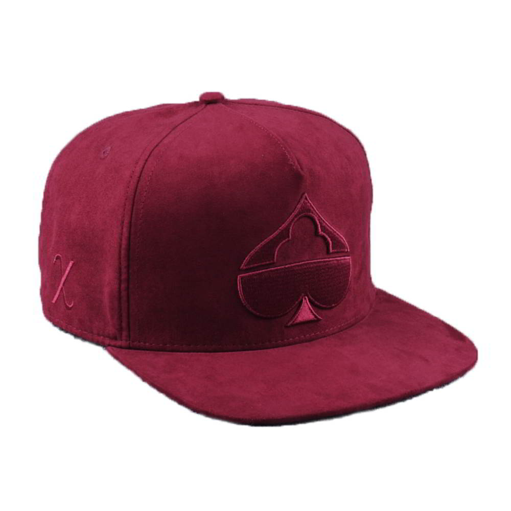 embroidery 5 panels suede snapback hats