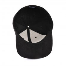embroidery black suede fitted snapback hats
