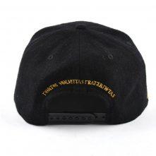 embroidery logo black metal wool snapback hats