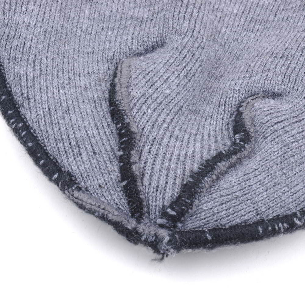 embroidery patch gray winter cuffed hats