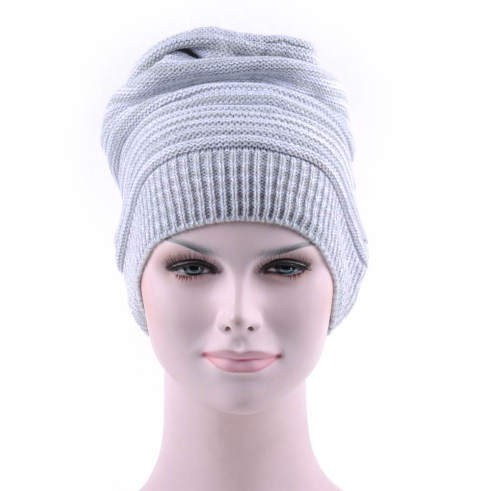gray no logo blank winter knitted slouchy beanies