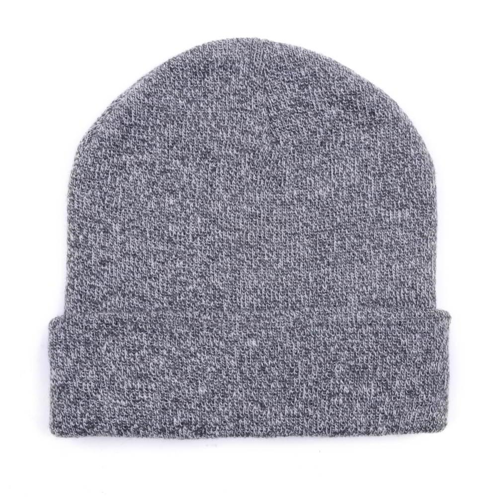 gray plain winter beanies design logo custom knitted hats