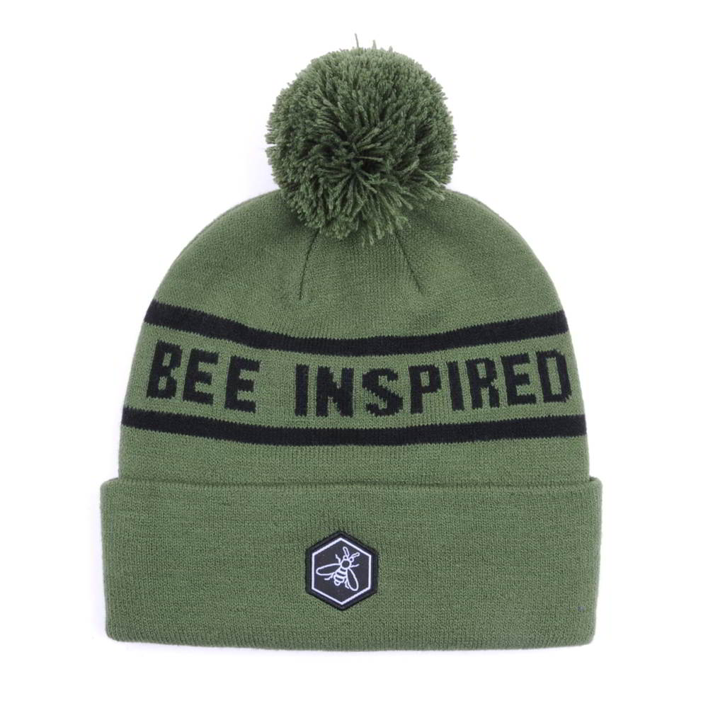 letters jacquard pom winter beanies