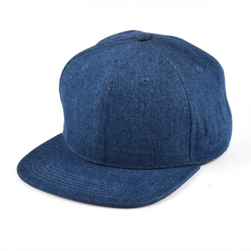 plain blank denim snapback hats without logo