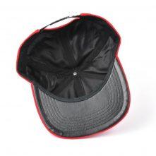 plain embroidery logo red corduroy snapback hats