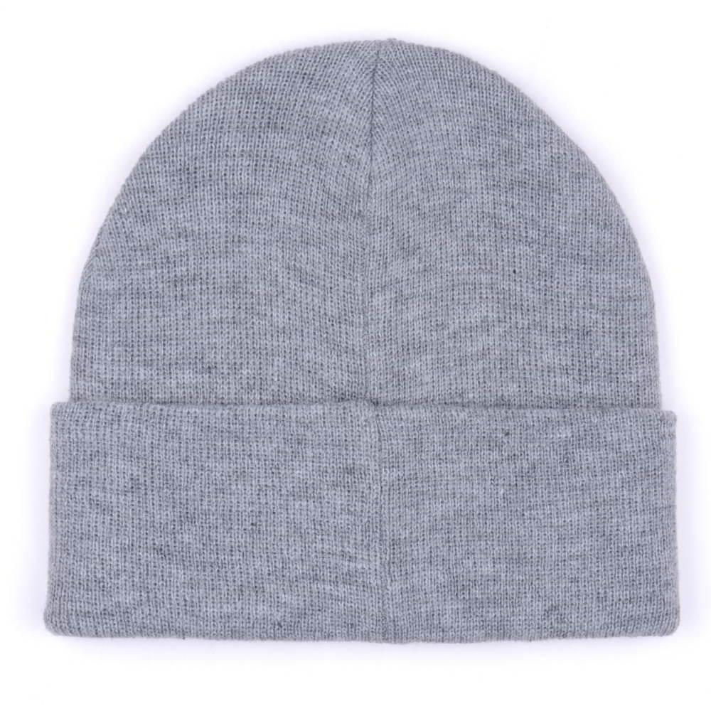 plain logo winter cuffed knitted beanies