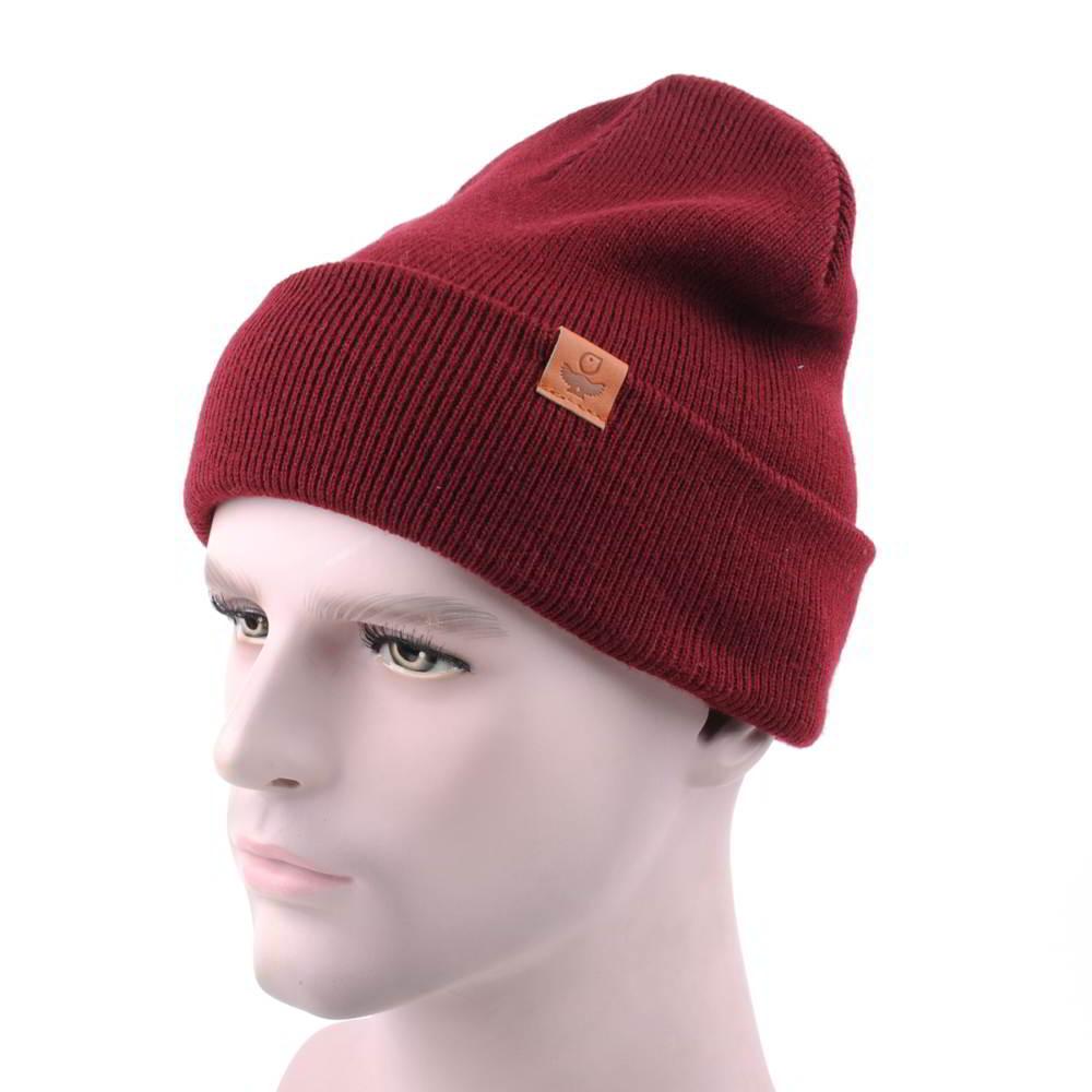 plain logo winter slouchy beanies warm hats