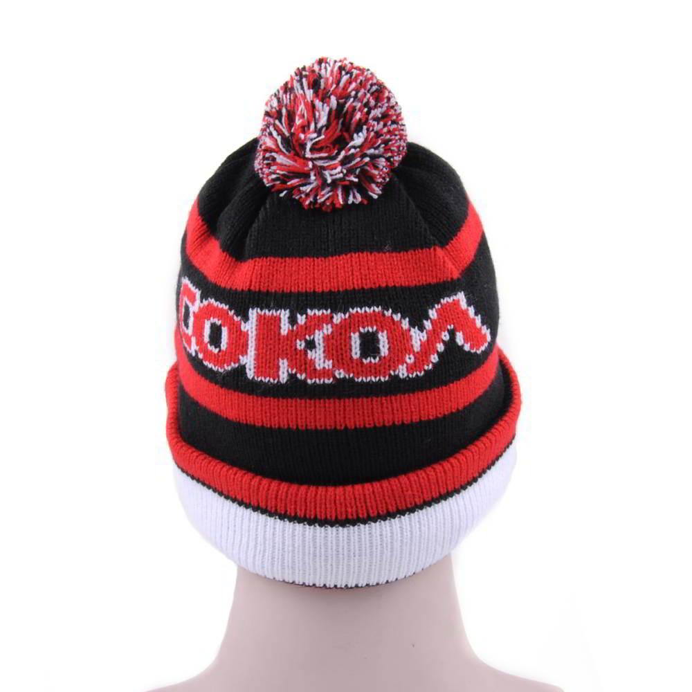 pom winter embroidery slouchy beanies