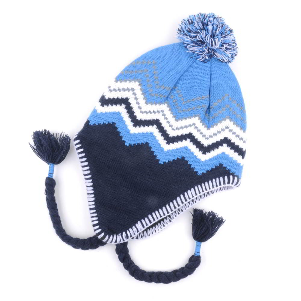 pom winter knit hats earflap beanies