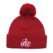 red winter cuffed embroidery winter caps beanies