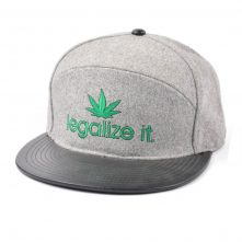 special 6 panels plain embroidery leather brim metal wool snapback hats