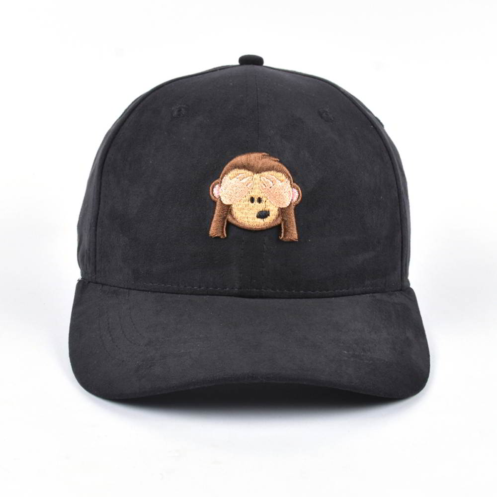 3d animal embroidery black suede baseball caps