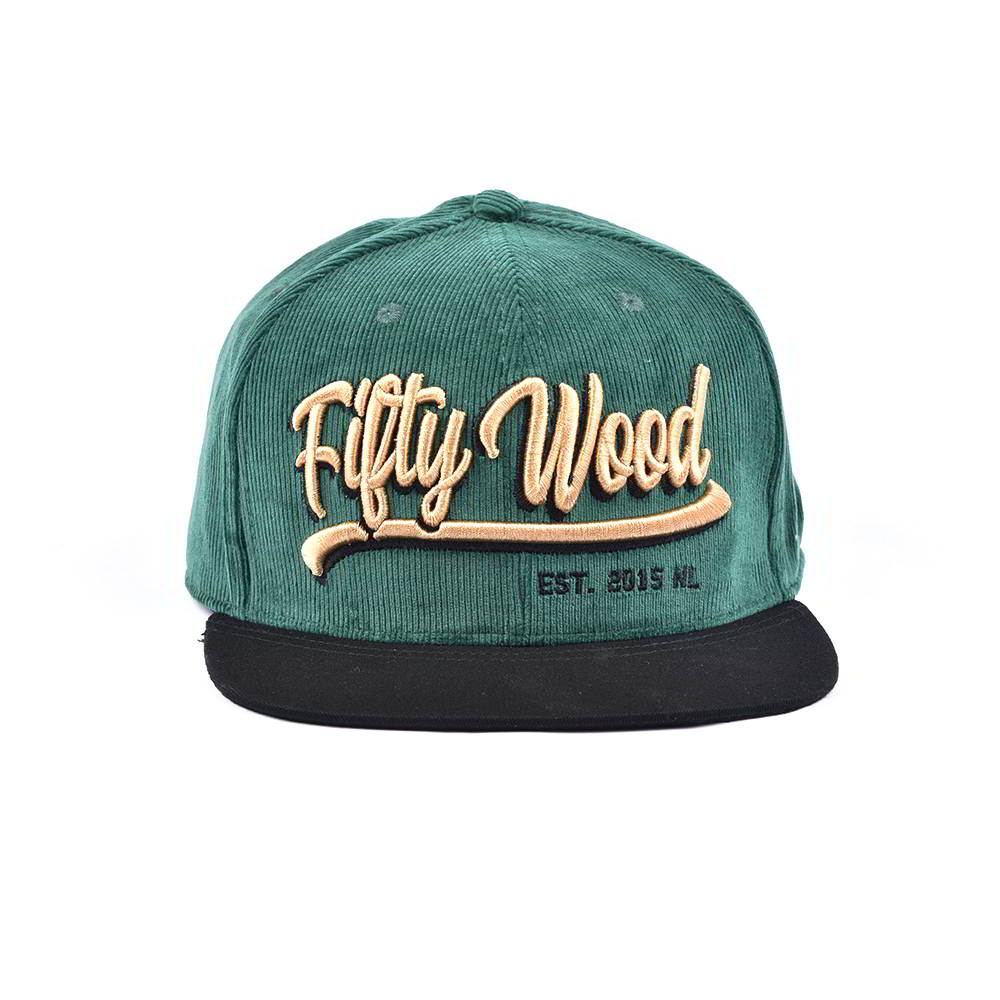3d embroidery letters corduroy snapback hats