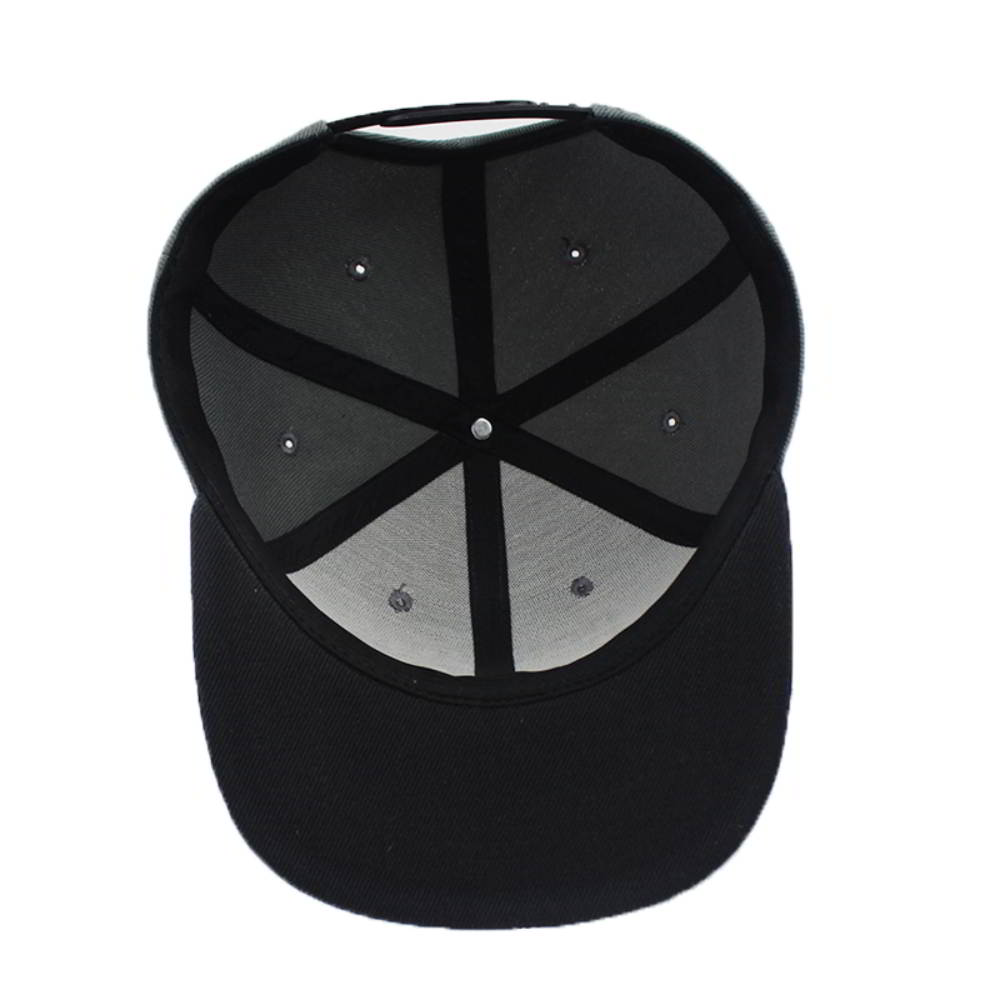 3d embroidery two tone flat brim snapback caps