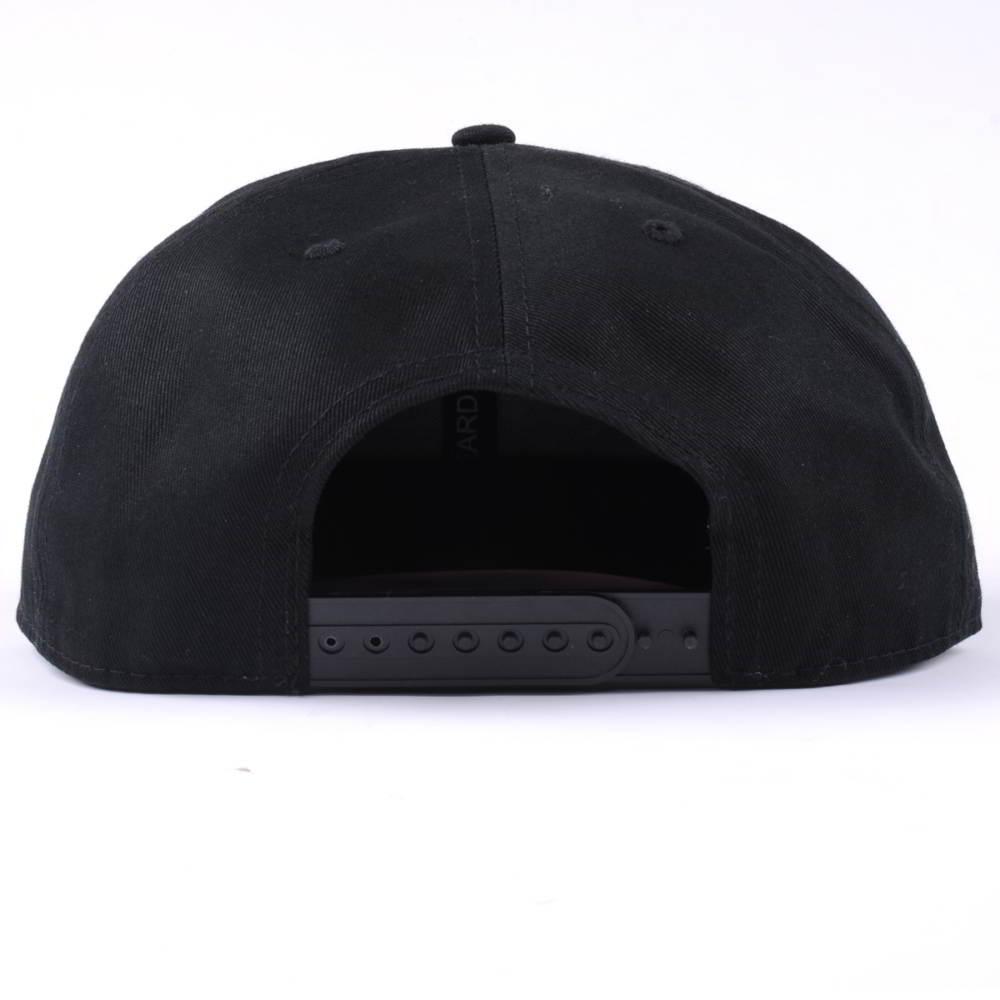 black 3d embroidery flat brim snapback hats