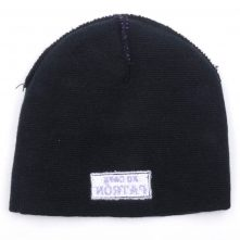 black jacquard winter caps beanies knitted hats