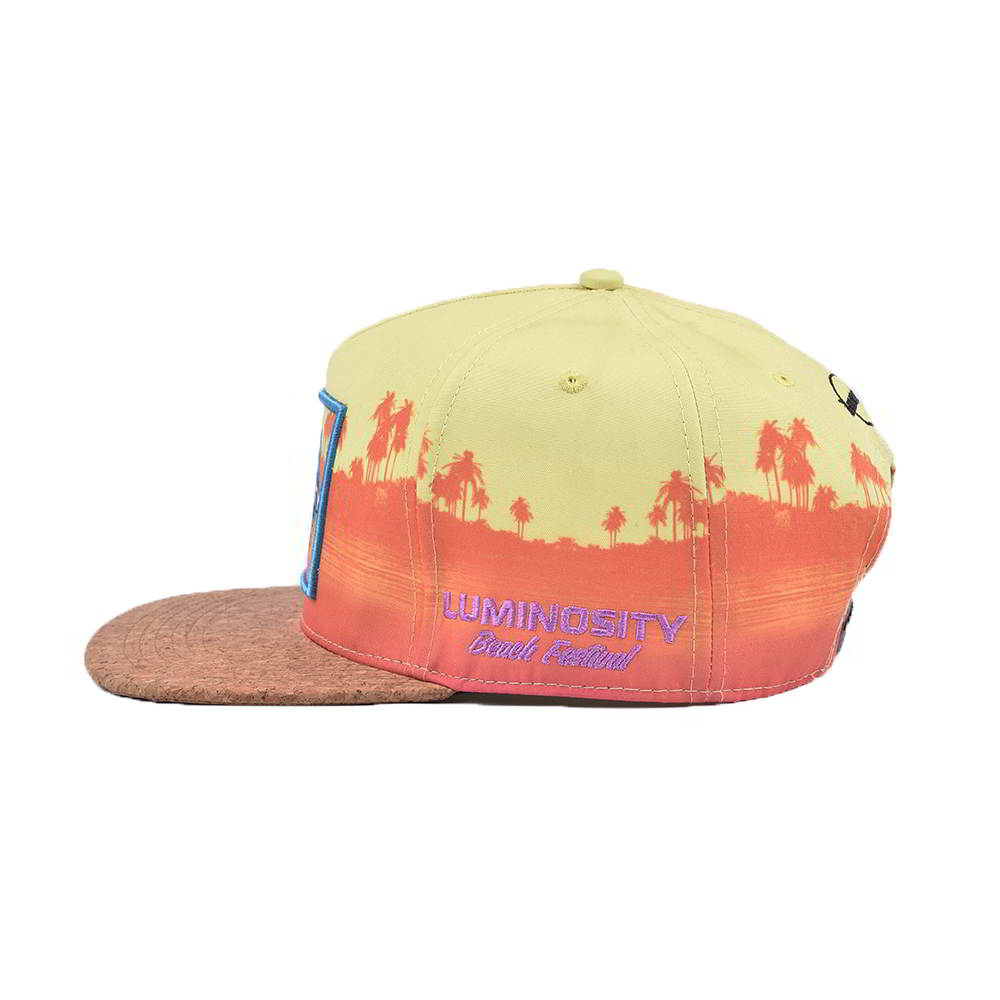 cork brim embroidery patch 5 panels snapback hats