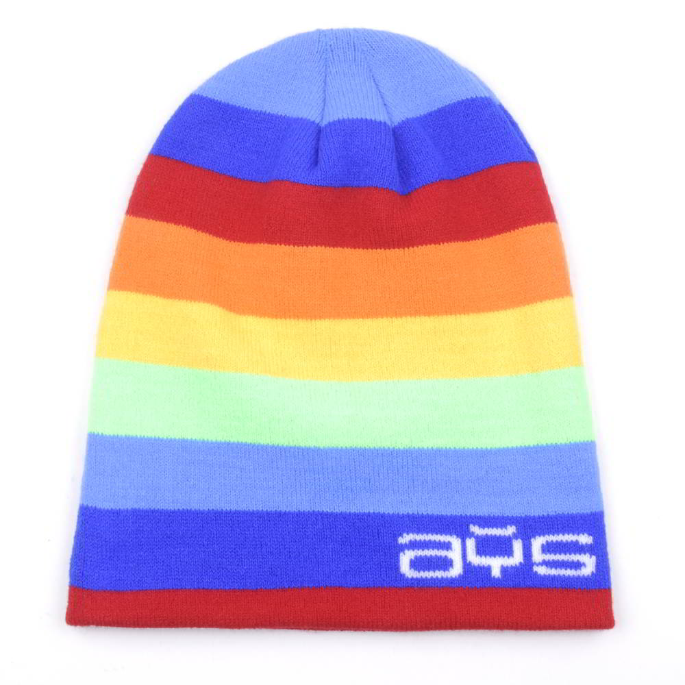design embroidery logo stripes winter beanies