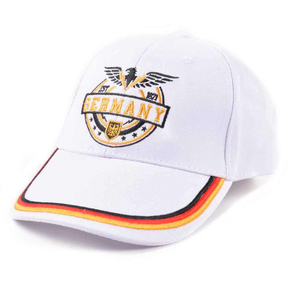 flat embroidery white sports baseball caps