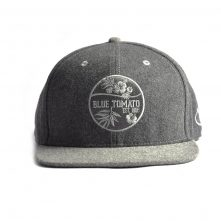 metal wool flat embroidery gray snapback hats
