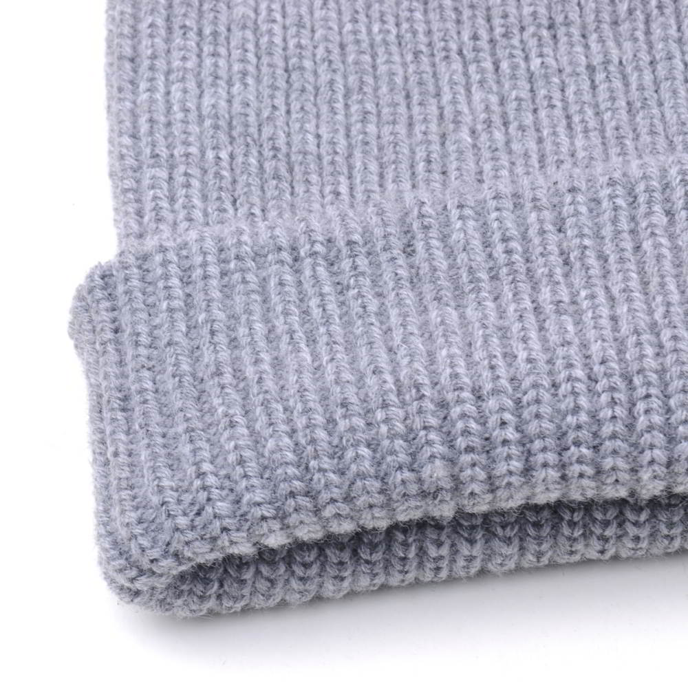 plain blank gray winter cuffed winter beanies