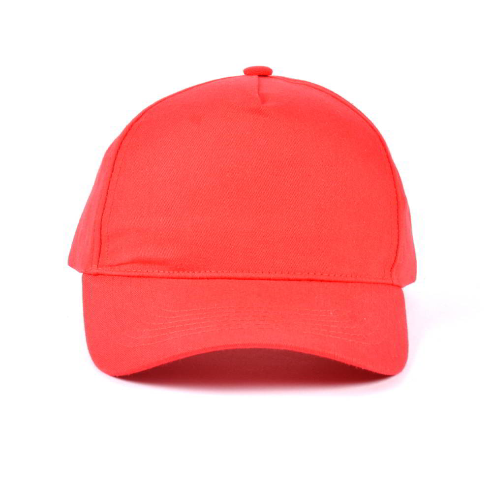 plain blank red 5 panels baseball caps