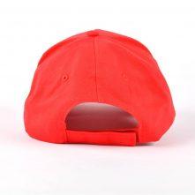 plain blank red 5 panels baseball caps