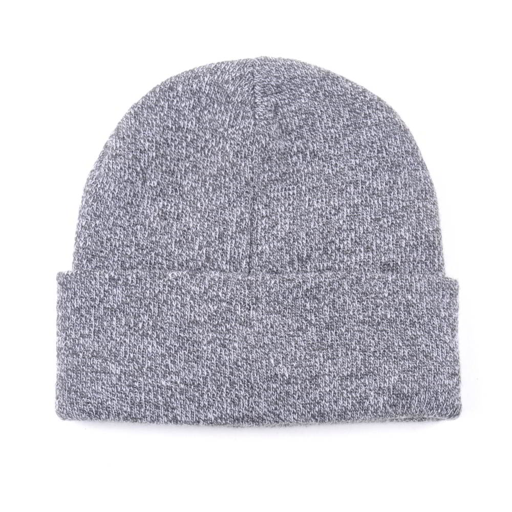 plain embroidery logo design winter knitted cuffed beanies