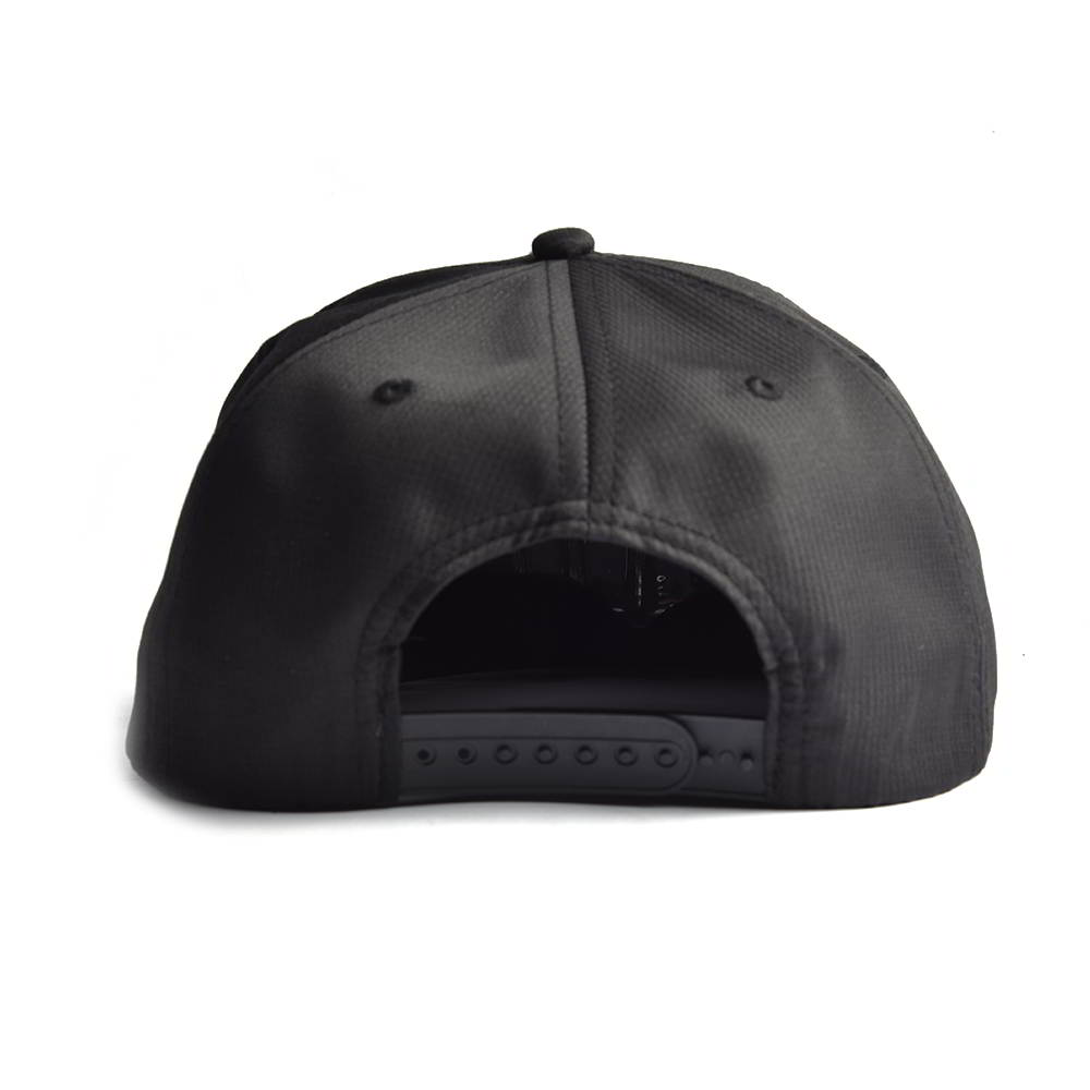 rope snapback caps 7 panels black hats
