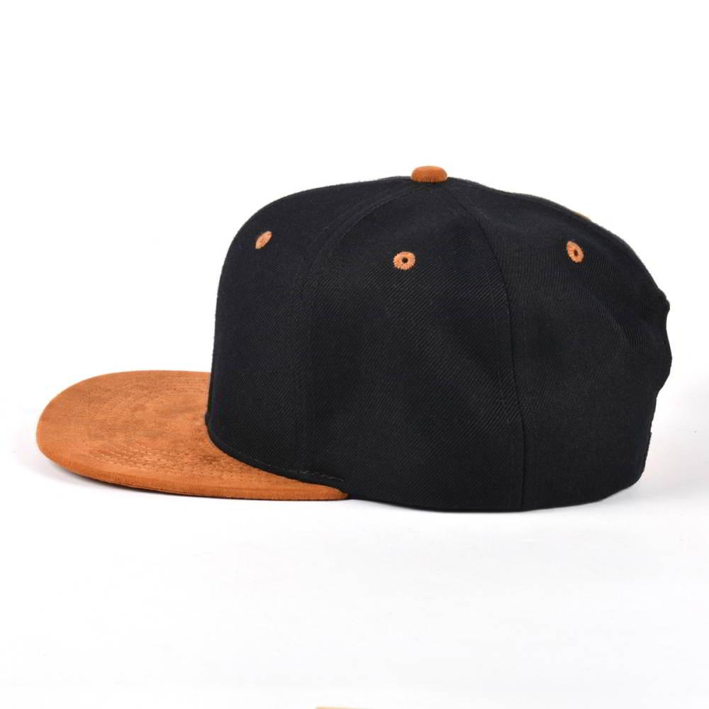 suede brim black plain blank snapback hats