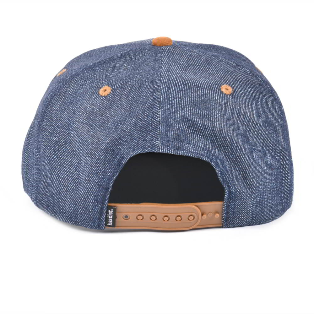 suede brim denim flat snapback caps