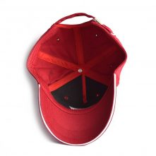 5 panels embroidery red sports baseball hats