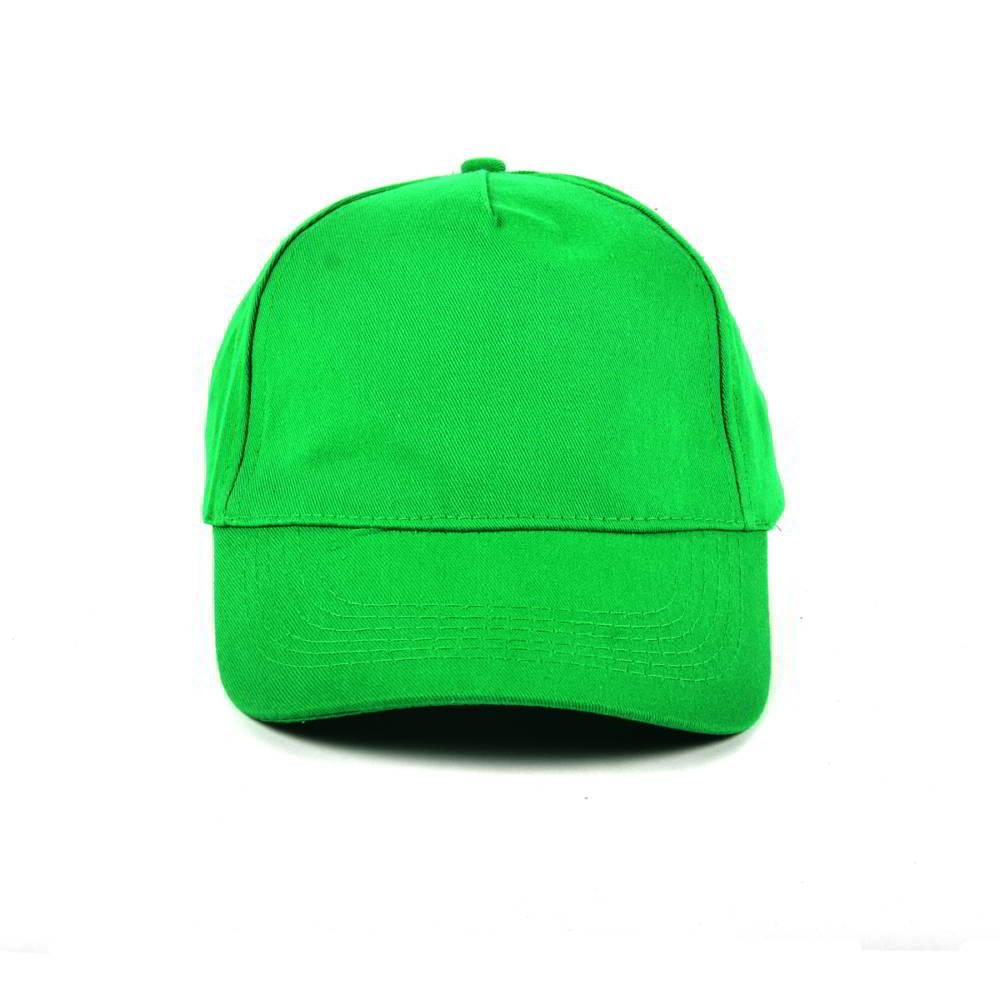 5 panels green blank baseball hats