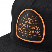 5 panels label patch black snapback hats custom