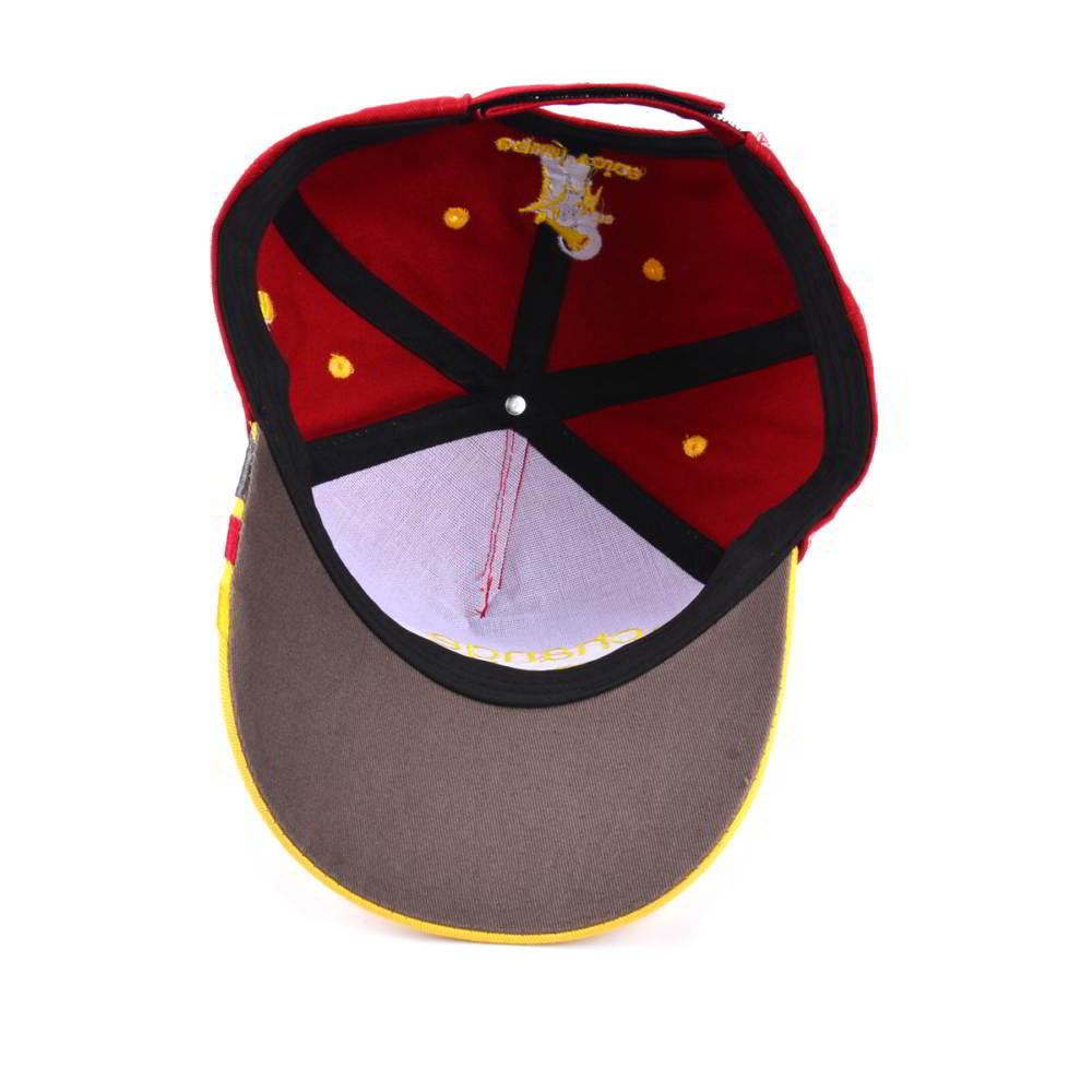 5 panels two tone embroidery baseball hats