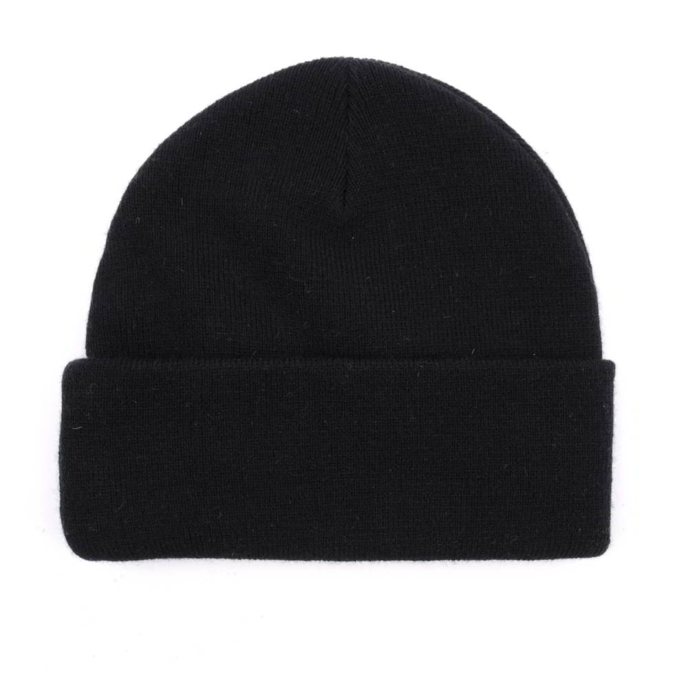 black winter beanies embroidery logo winter hats