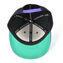 flat embroidery two tone snapback hats custom