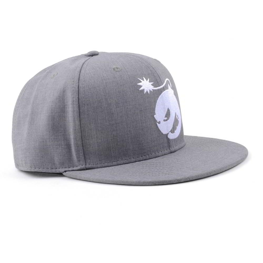flat embroidery gray snapback caps custom