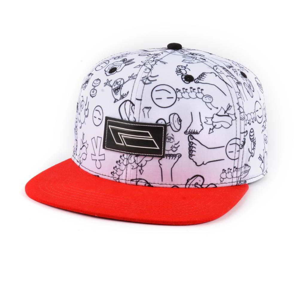 leather logo flat brim printing snapback hats custom