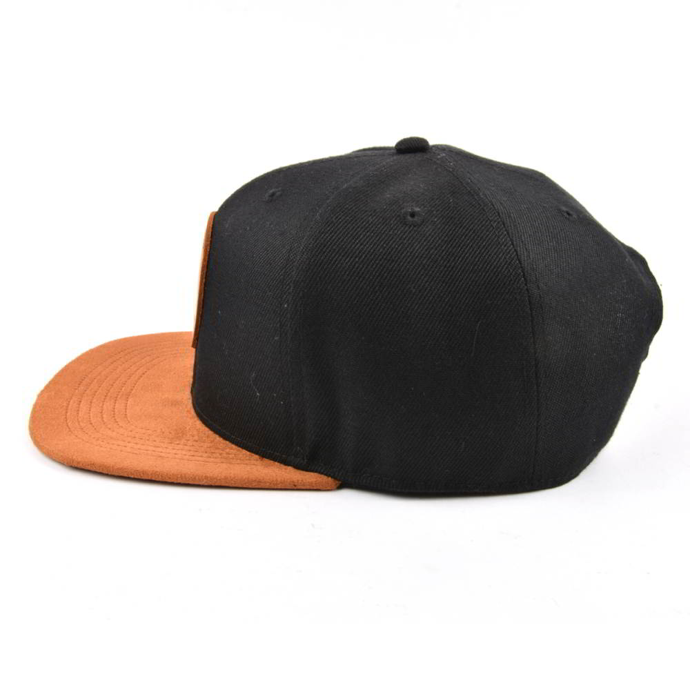 leather patch logo suede brim snapback hats