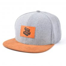 leather patch suede brim metal wool snapback hats