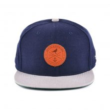 leather patch two color snapback hats custom