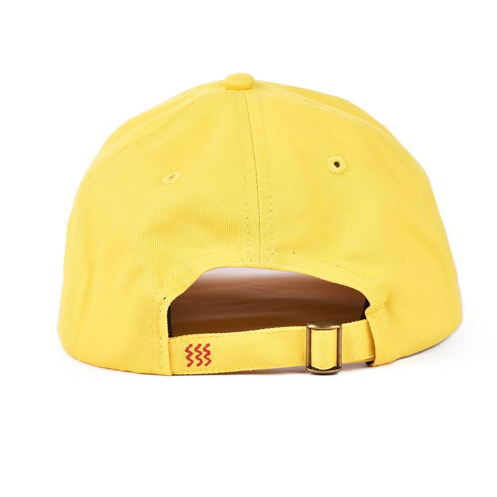 plain logo yellow sports dad hats