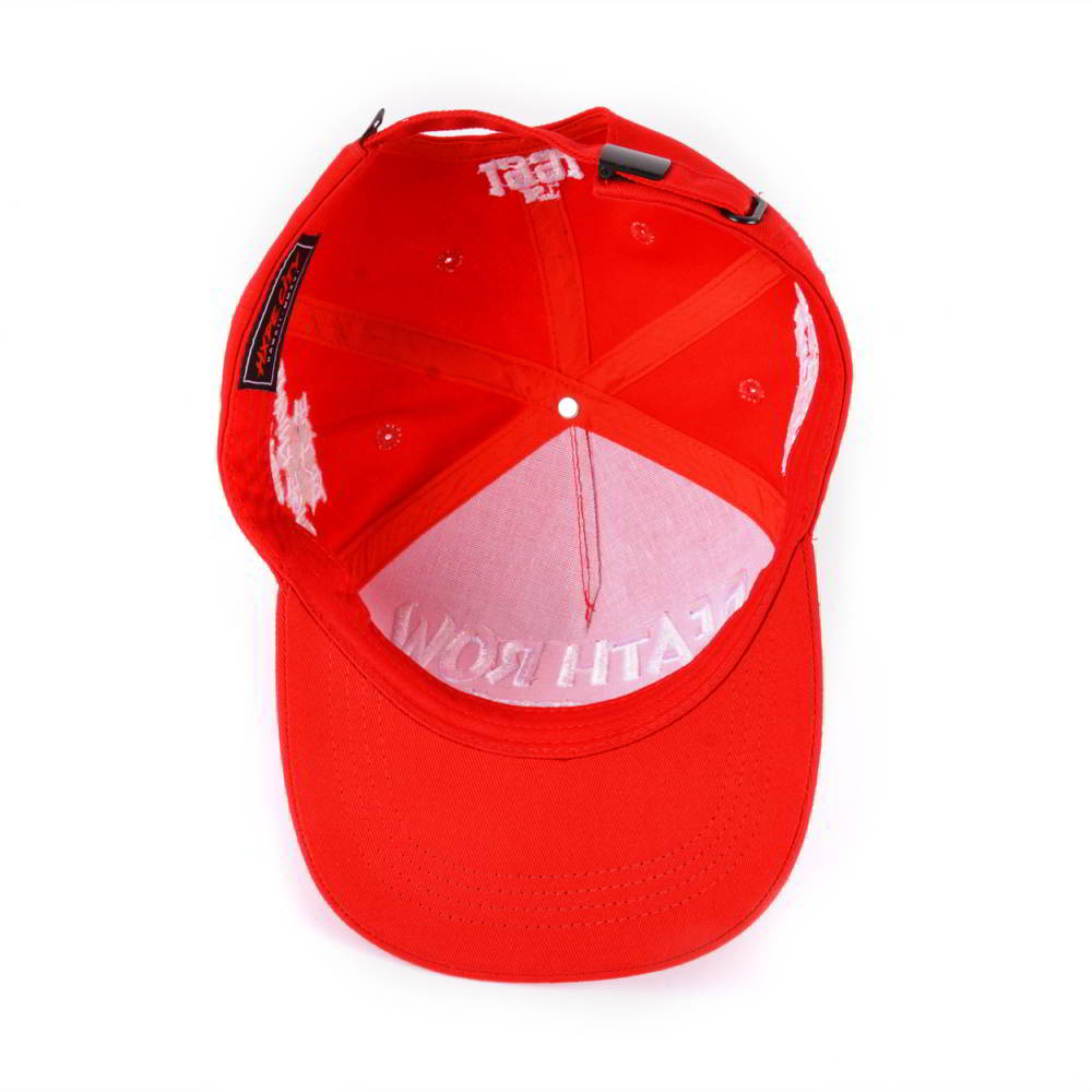 puff embroidery red 5 panels baseball hats