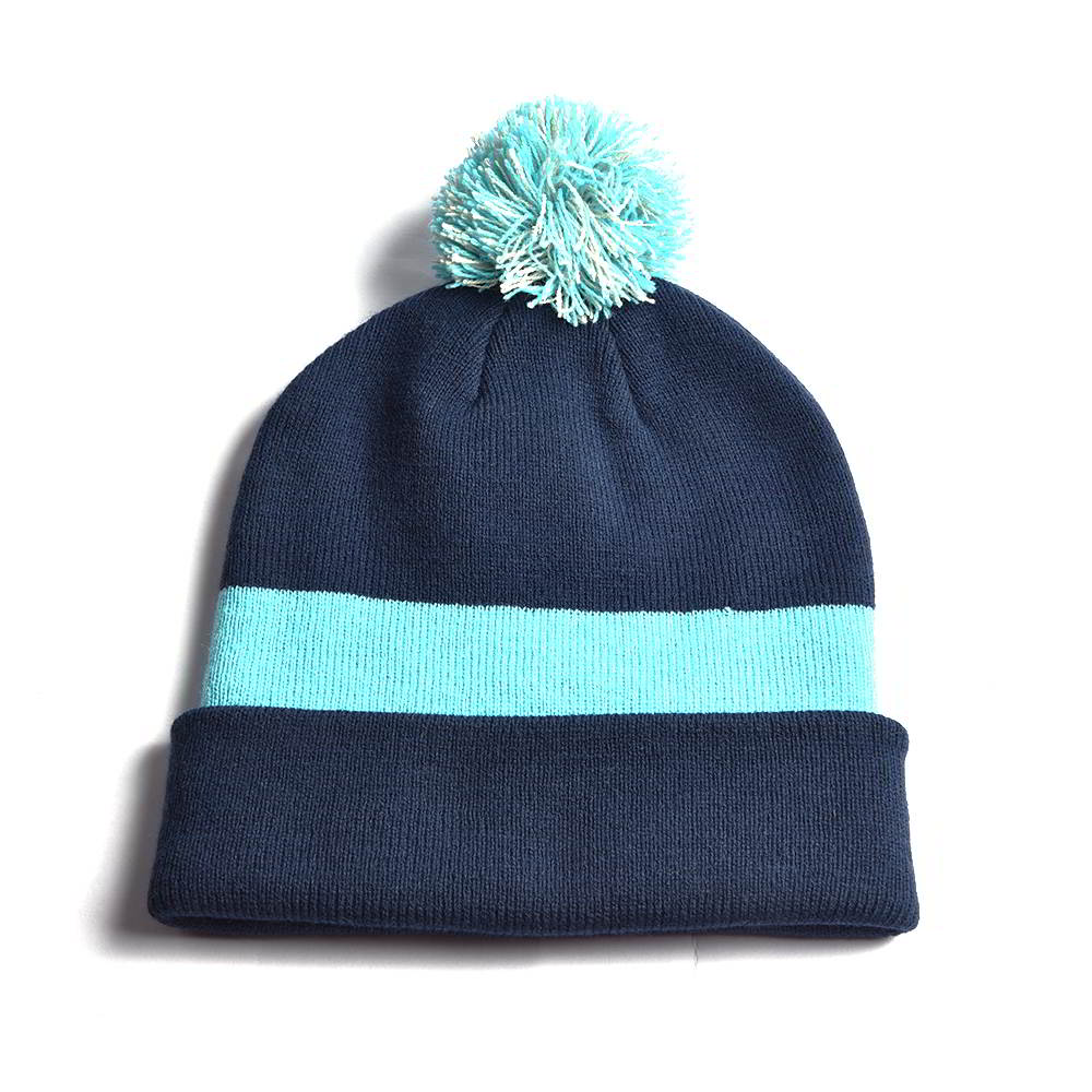 stripes winter caps pom beanies custom