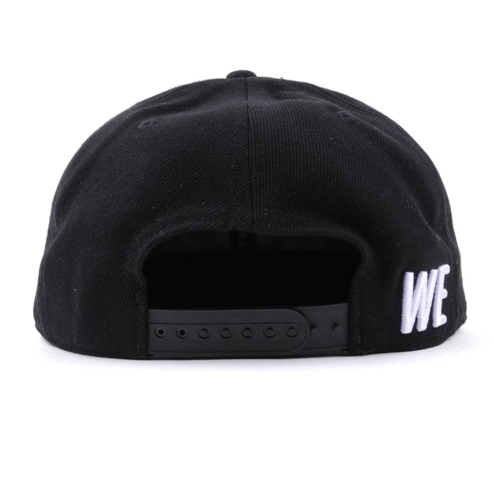 3d embroidery black acrylic snapback caps